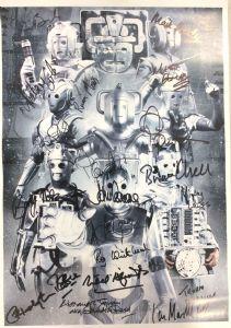 Cyberman, 'Montage', A3 Poster 18 Genuine Autographs, rare COA 10078